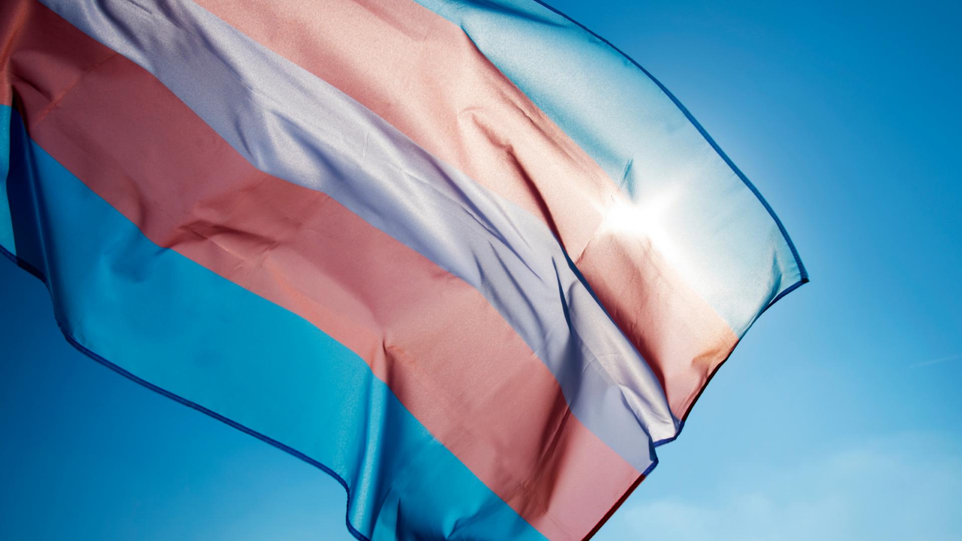 Trans Flag in Sky